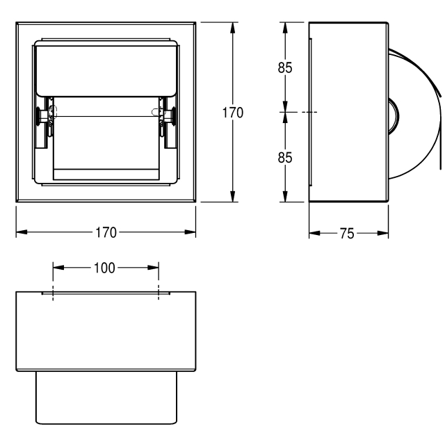 Single toilet roll holder for wall mounting