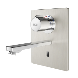 F5E-Therm electronic thermostatic in-wall mixer with battery operation