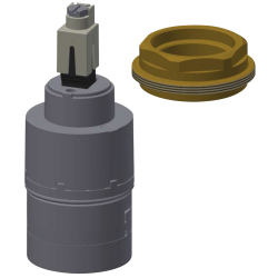 Ceramic disc cartridge with thermostatic scald-protection