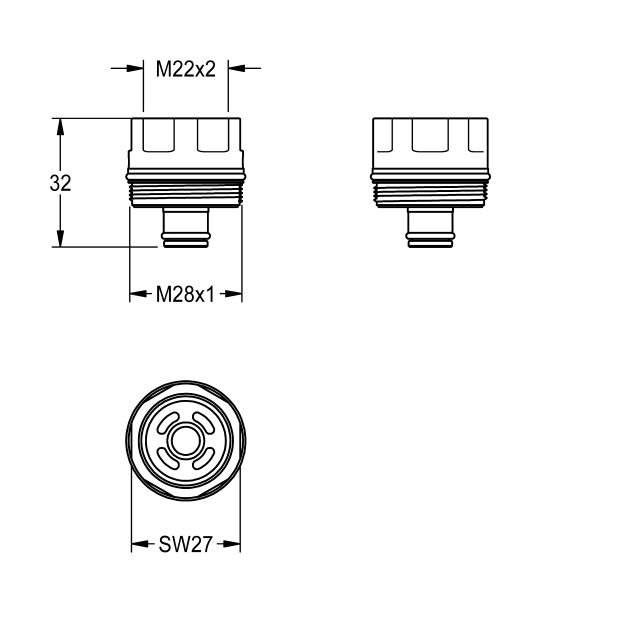 Adapter with strainer