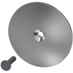 Cover with screw