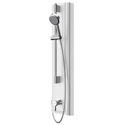 F5L Mix shower panel made of MIRANIT with hand shower fitting