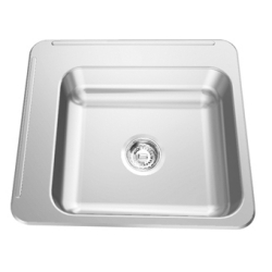 Classroom sink - Back & left faucet ledges