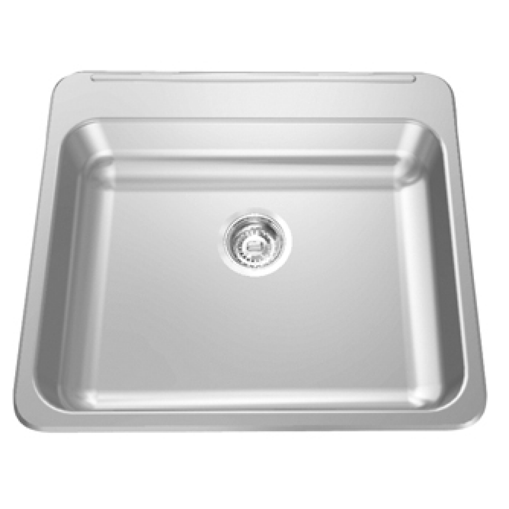 Topmount sink - Single, with ledge, 18 gauge