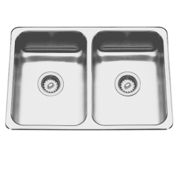 Topmount sink - Double, no ledge, 20 gauge