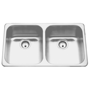 Topmount sink - Double, no ledge, 18 gauge