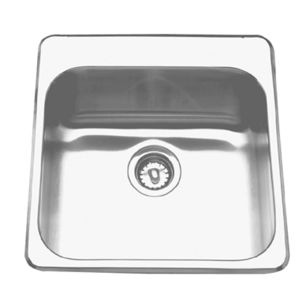 Topmount sink - Single, with ledge, 20 gauge
