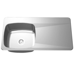 LBSDBR6810/316P-1 Double bowl, right drainboard