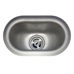 Type 316 laboratory - Cup sink, oval, 20 gauge