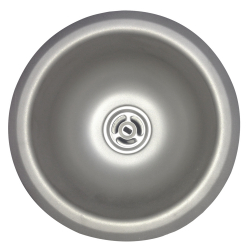 Type 316 laboratory - Cup sink, round, 20 gauge