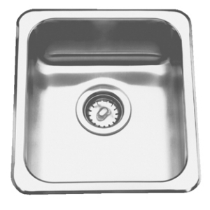 Topmount sink - Single, no ledge, 20 gauge