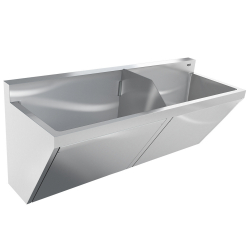 Healthcare - Scrub sink, double compartment
