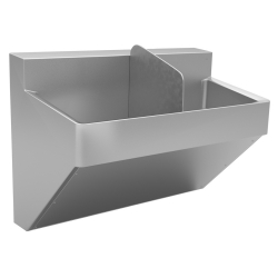 Healthcare - Premium scrub sink, double, 16 gauge