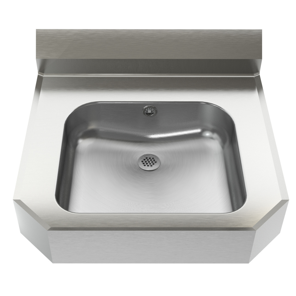 Hand wash basin - Wall Hung, designer, 18 gauge, overflow